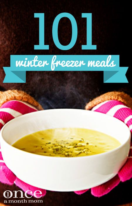 101 Winter Freezer Meals- Fill your freezer with these comfort foods, perfect for winter.  #freezercooking #oamc