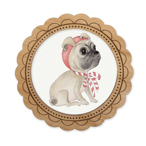 This cute puppy dog brooch by thestorybookrabbit is pug-tastic!!
