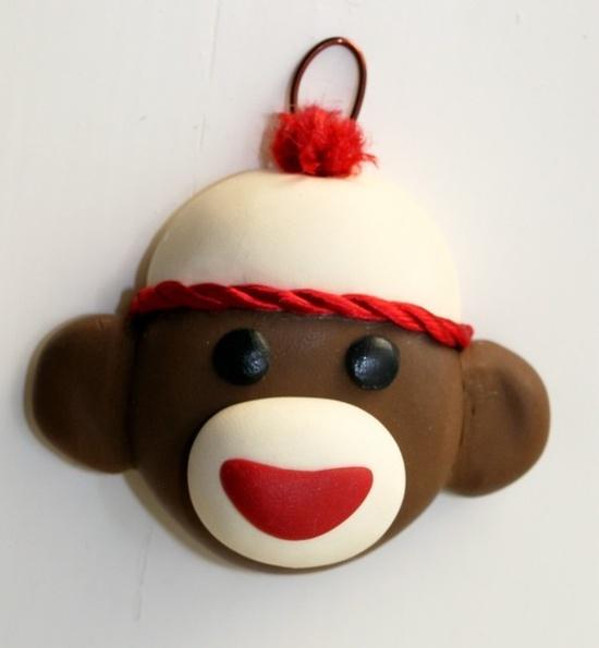 Sock Monkey Cupcake Topper