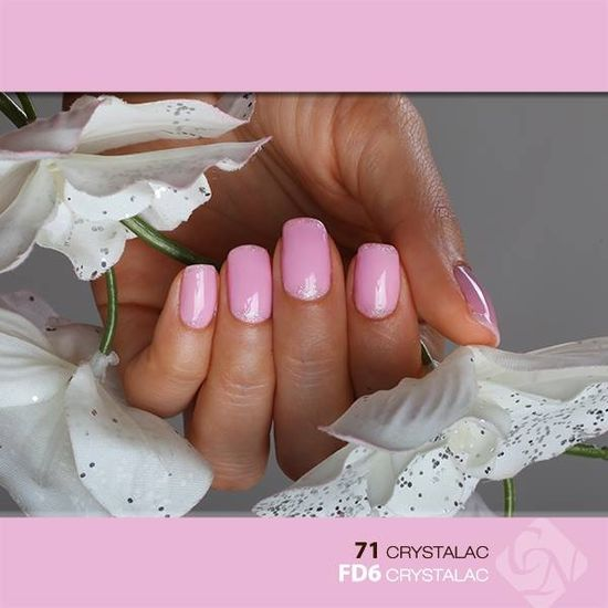 Crystalac nail decoration nails pink nail pretty nails nail art nail ideas nail designs crystal nails crystalac
