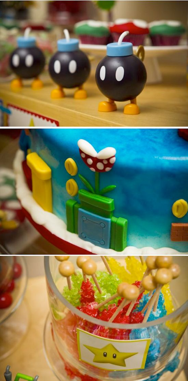 Mario Bros themed birthday party via Kara's Party Ideas #mario #bros #themed #birthday #party #ideas #cake #boy