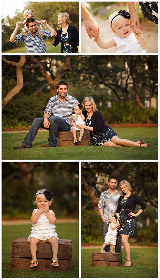 cute family session - family of 3