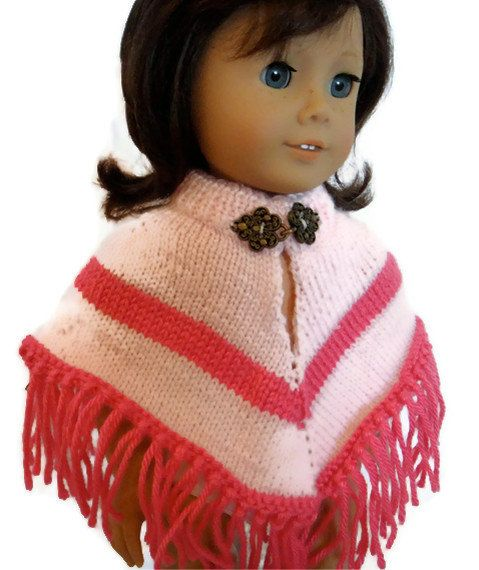 Poncho Pink American Girl Doll by PreciousBowtique on Etsy, $10.00