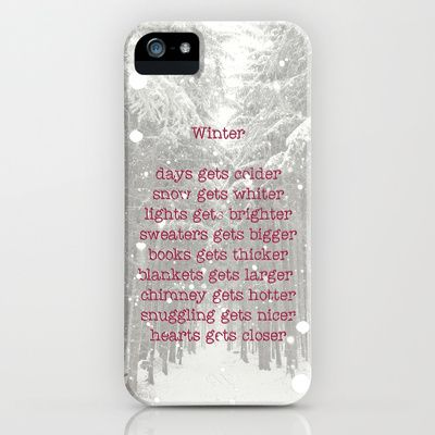 WINTER iPhone & iPod Case #iphone #case #cover #winter #quote