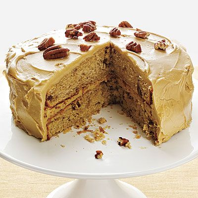 Pecan Spice Cake with Maple Frosting