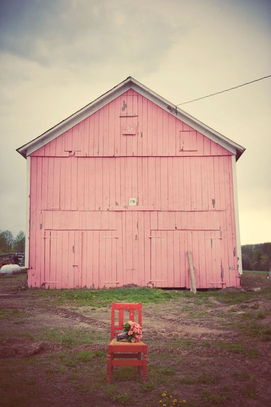 pink barn....the perfect shade of pink!