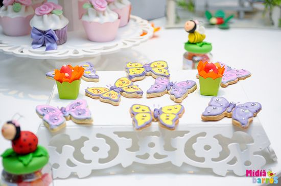 Butterfly cookies at a Garden party!   See more party ideas at CatchMyParty.com!  #partyideas  #garden