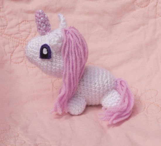 Customize Your Own Unicorn (Crocheted Stuffed Animal Toy) Only $12 What a sweet gift for a new baby.