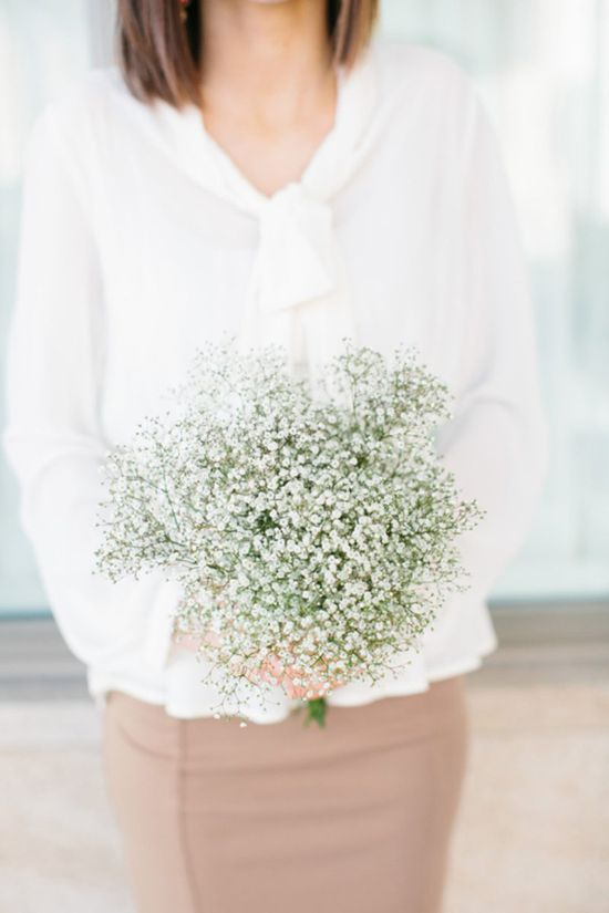baby's breath bridesmaid bouquet // photo by Lora Grady // flowers by Tinge Floral