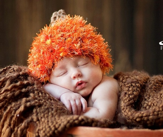 Happy Halloween Textured Newborn Baby Pumpkin Hat -  Great Colors -Perfect for Fall for a Little Boy or Girl. $18.99, via Etsy.