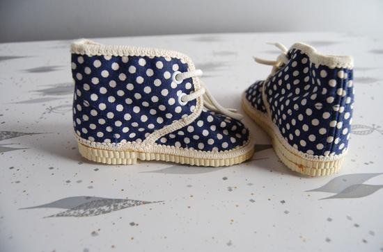 polka dot baby shoes