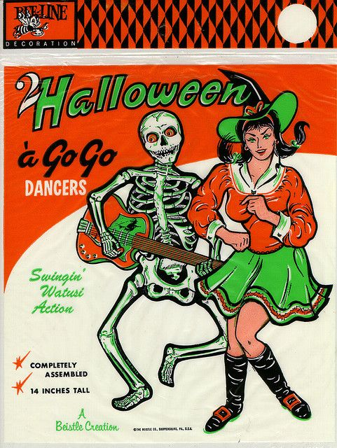 Halloween a Go Go Dancers by Beistle (Vintage Toy / Vintage Halloween / Retro Halloween Decoration)