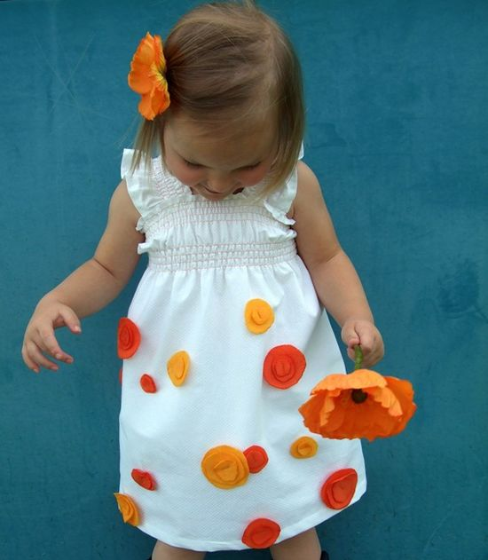 Baby poppy dress tutorial (love the shirring on this)