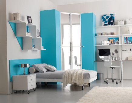 Teen bedroom blue ideas