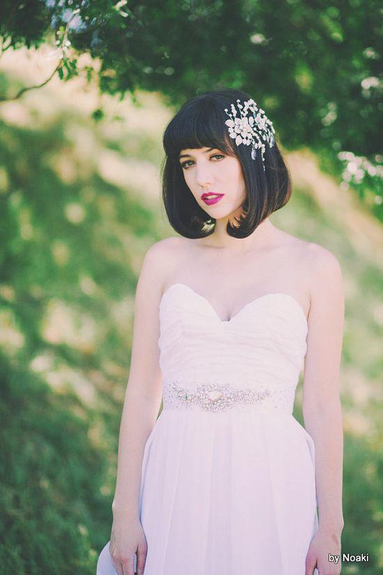 Starry night bridal belt -- ready to ship crystal and rhinestone bridal sash
