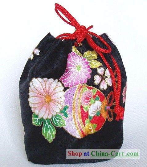 Japanese traditional kimono bag.