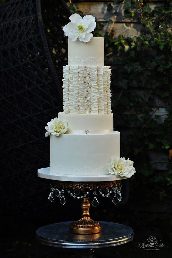"""Ruffletto"" — Round Wedding Cakes"