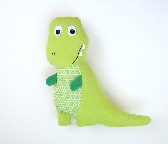 Tony TRex Pattern DIY Stuffed Dinosaur Toy and by MyFunnyBuddy, $6.00