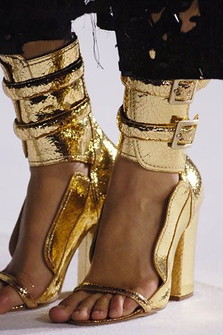 .gold shoes