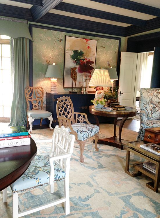 Miles Redd living room at JLG Showhouse