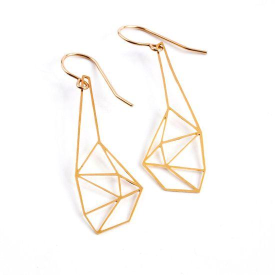 Geometric Dangle Hook Earrings, $41