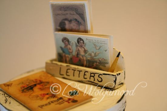 Letters - Handmade Letter Holder with Pencil for Miniatures -  Vintage Nest Designs, Creative Handmade and Hand Painted Designs