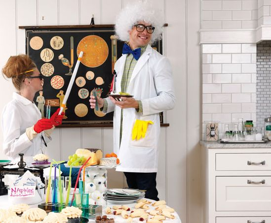 Ideas for a mad scientist Halloween party.