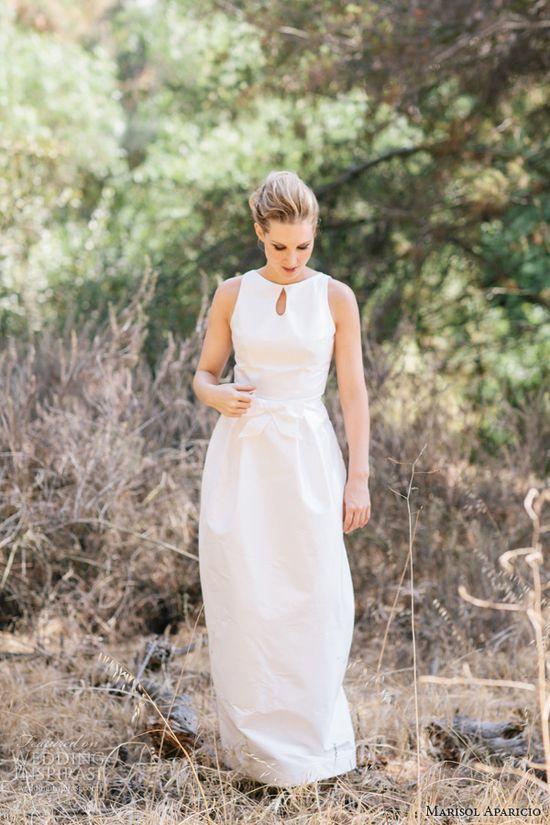 marisol aparicio fall 2013 bridal jackie sleeveless dress