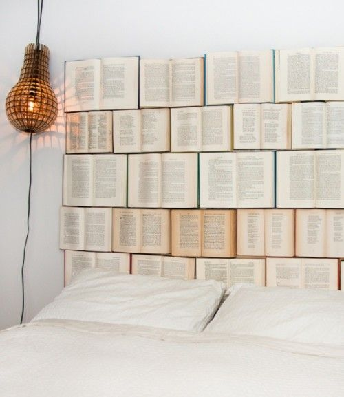 headboard made from books
