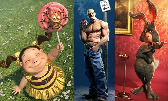 20 Awesome 3D Character Designs and Backgrounds by Jose Alves da Silva