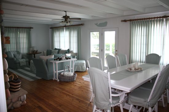 This cottage was dark and drab with Navy beams and muddy yellow walls...Come see the transformation!