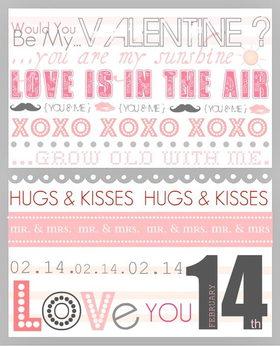 Free printable for valentines day!