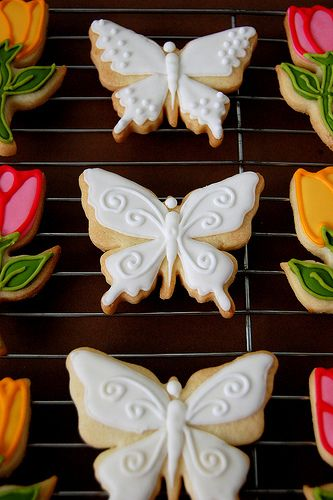 white butterfly cookies