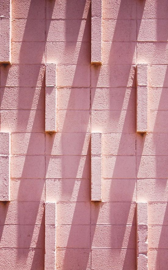 Pink bricks photographed by Michael Chase.