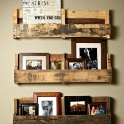 The ultimate inspiration source, taking old discarded pallets, and transforming them into new shelves.