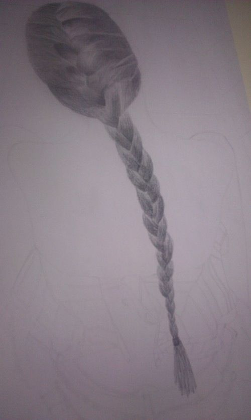 Hunger Games Fan Art / Katniss's Braid / Hair