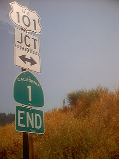 The end of California Highway 1.