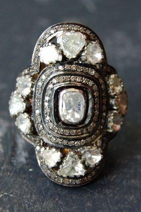 Clover diamond ring*