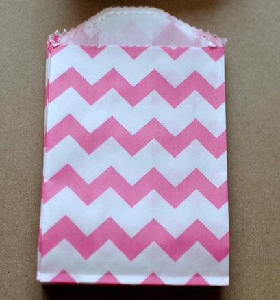 pink chevron bags