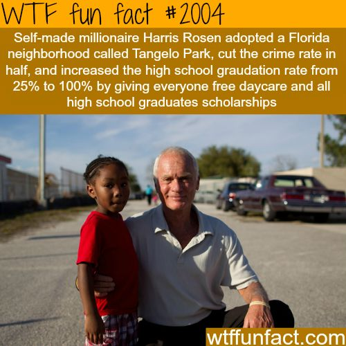 Self-made millionaire Harris Rosen reforms a whole town -WTF fun facts