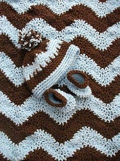 Free Crochet Baby Blanket Hat and Bootie Pattern.