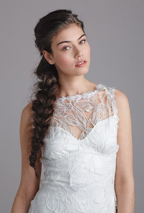 Dramatic Side Braid Wedding Hairstyle :