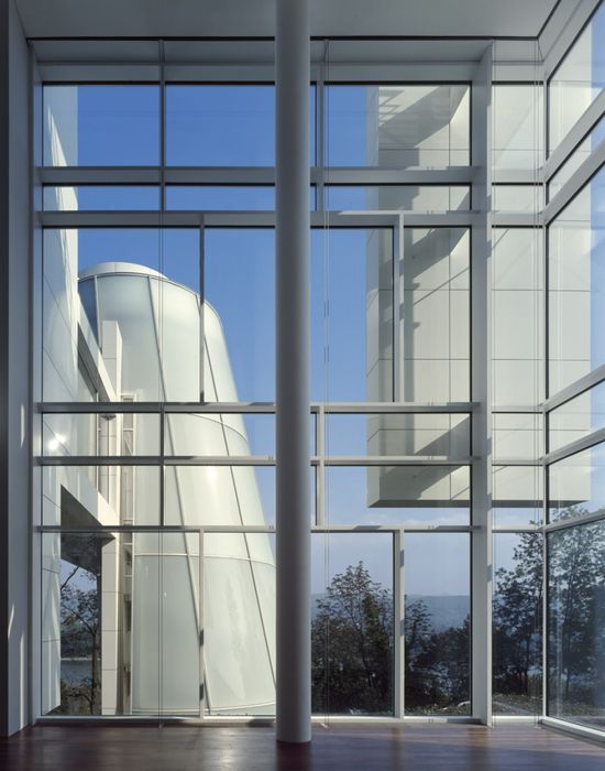 Richard Meier Celebrates Fifty Years of Architecture #white #glass #column Getty Centre