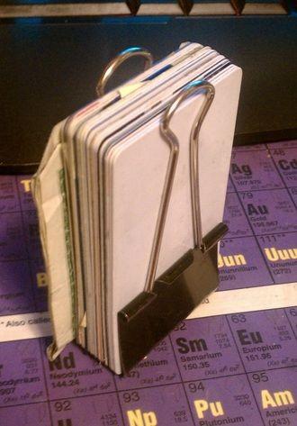 Binder Clip Wallet: Hah! #Binder_Clip #Wallet