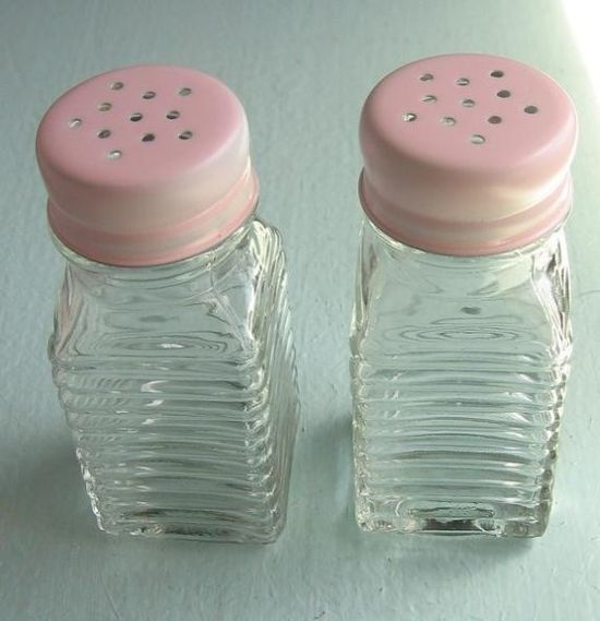 Romantic Country Pink Salt and Pepper Shakers