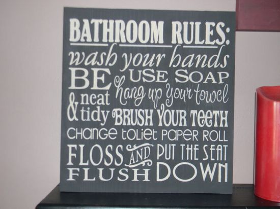 cute bathroom decor!