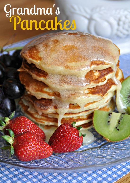 Grandmas Famous Pancakes on MyRecipeMagic.com