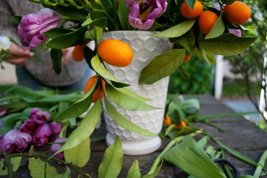 Spring Flower Arrangement DIY: White Honeycomb Vase