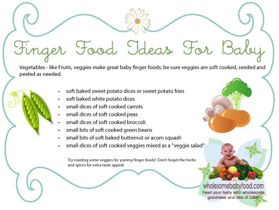 Baby Finger Foods, Baby's First Finger Foods Recipes and Ideas for Healthy Baby Finger Foods!