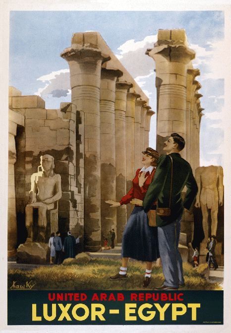 A great vintage travel poster for Egypt. #vintage #travel #posters #Egypt #Egyptian_revival